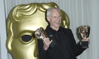 """O diretor Martin McDonagh levou o prêmio de melhor filme por """"Três anúncios para um crime"""" Foto: Joel C Ryan/Invision/AP"""
