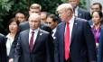 Trump e Putin conversam durante cúpula no Vietnã