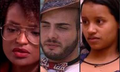 Nayara, Mahmoud e Gleici estão no paredão do 'BBB 18' Foto: Reprodução