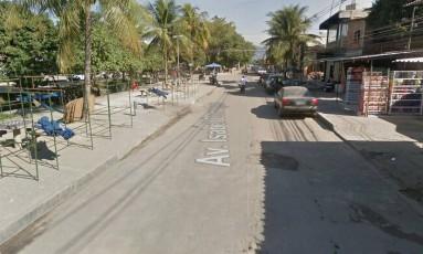 A avenida onde o crime ocorreu Foto: Google Street View / Reprodução