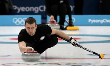 Alexander Krushelnitsky durante os Jogos de Inverno de PyeongChang Foto: Aaron Favila / AP