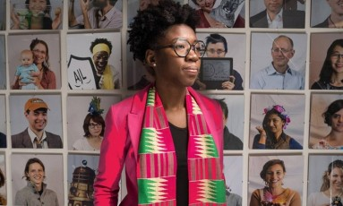 Joy Buolamwini é autora do estudo que testou softwares de reconhecimento facial Foto: Bryce Vickmark/MIT