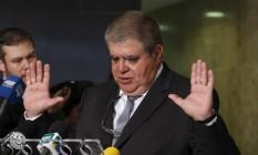 O ministro da Secretaria de Governo, Carlos Marun, fala sobre a reforma da Previdência Foto: Michel Filho / Agência O Globo
