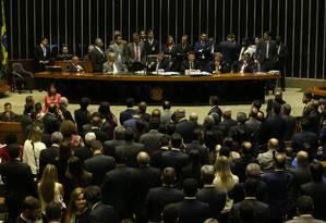 Plenário da Câmara dos Deputados para votação do decreto de intervenção federal do estado do Rio de Janeiro Foto: Ailton de Freitas / Agência O Globo