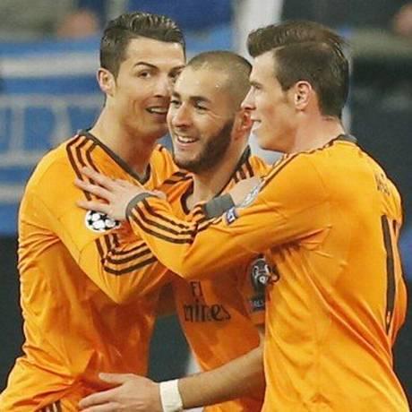 Cristiano Ronaldo, Benzema e Bale Foto: Arquivo