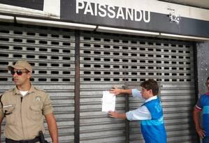 Obras que transformavam o Cine Paissandu em academia de ginástica foram embargadas pela Prefeitura do Rio Foto: Divulgação