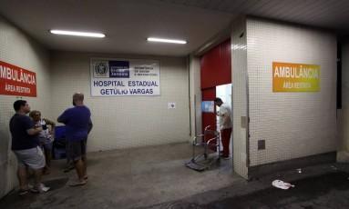 Hospital Estadual Getúlio Vargas: segundo levantamento do MP, em 2017 os repasses do governo à saúde foram de cerca de 5,1% da receita Foto: Paulo Nicolella