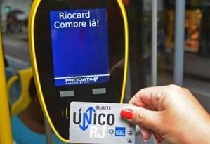 Bilhete Único: valor deve ser corrigido de R$ 8 para R$ 8,55 em março Foto: Henrique Freire / Agência O Globo