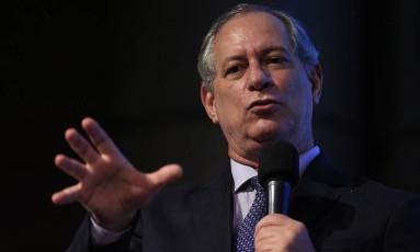 """Ciro Gomes participou de evento organizado pelo jornal """"Folha de S.Paulo"""" Foto: Edilson Dantas / Agência O Globo"""