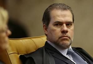 O ministro Dias Toffoli, durante sessão do Supremo Tribunal Federal Foto: Jorge William/Agência O Globo/01-02-2018
