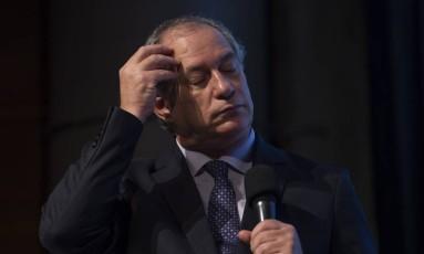 Ciro Gomes, durante palestra em São Paulo Foto: Edilson Dantas / Agência O Globo