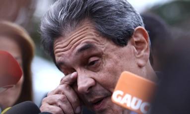 Roberto Jefferson chora ao anunciar a indicação de Cristiane Brasil para o Ministério do Trabalho Foto: Jorge William/Agência O Globo/03-01-2018