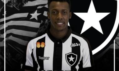 O lateral-esquerdo Moisés, de 22 anos, é o novo reforço do Botafogo Foto: Reprodução