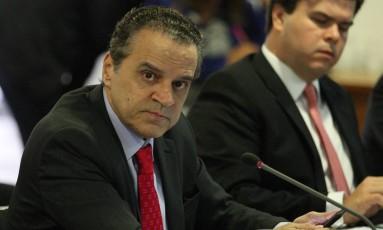 O ex-ministro do Turismo Henrique Alves, durante reunião ministerial no Palácio do Planalto Foto: André Coelho/Agência O Globo/06-06-2018