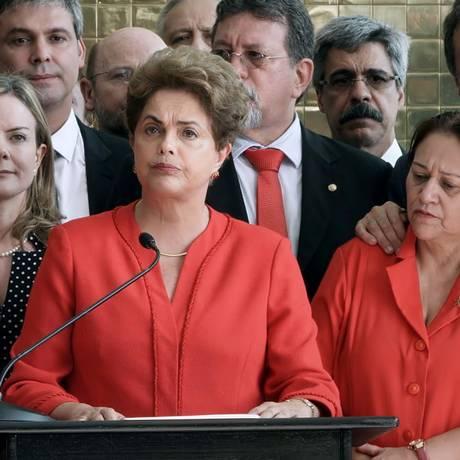 A então presidente Dilma Rousseff faz pronunciamento após processo de impeachment, que a impediu de seguir como presidente da República Foto: Divulgação
