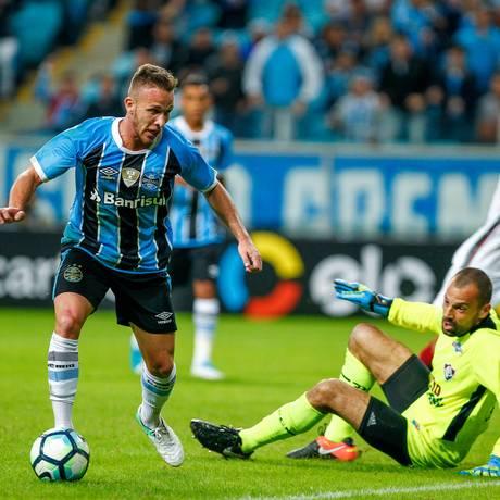 Arthur foi um dos destaques do Grêmio na temporada passada Foto: Lucas Uebel / Lucas Uebel/Gremio FBPA