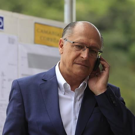 O governador de São Paulo, Geraldo Alckmin (PSDB), visita obra em São Paulo Foto: Edilson Dantas/Agência O Globo/16-02-2018