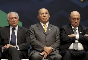 O ministro-chefe da Casa Civil, Eliseu Padilha, ao lado presidente Michel Temer Foto: Gabriel de Paiva / Agência O Globo