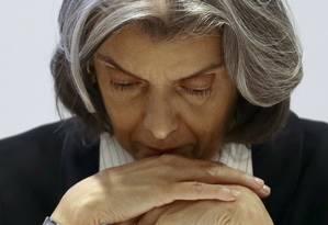 A ministra Carmem Lúcia, presidente do Supremo Tribunal Federal (STF) Foto: Jorge William / Agência O Globo / 14-2-17