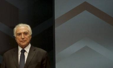O presidente Michel Temer Foto: Gabriel de Paiva / Agência O Globo / 20-2-18