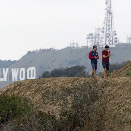 Hollywood Hills, em Los Angeles Foto: Damian Dovarganes / AP