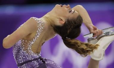 Isadora Williams durante sua apresentação em PyeongChang Foto: Bernat Armangue / AP