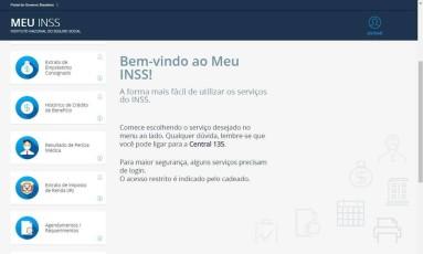 Site Meu INSS Foto: Reprodução/Internet