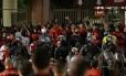 Confusão no jogo entre Flamengo x Independiente, em dezembro