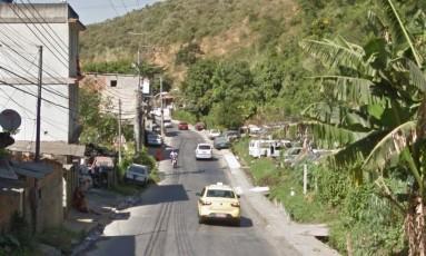 A rua onde ocorreu o crime Foto: Google Street View / Reprodução