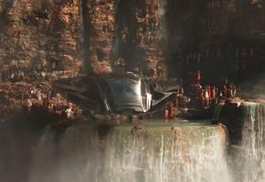 O Reino de Wakanda no cenário das Cataratas do Iguaçu Foto: Divulgação / Marvel