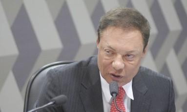 Mário Rodrigues Júnio, indicado para a diretoria da ANTT, durante sabatina no Senado Foto: Pedro França/Agência Senado/16-08-2016