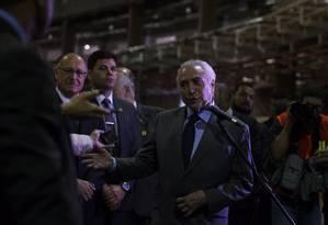 O presidente Michel Temer Foto: Edilson Dantas / Agência O Globo/15-2-18