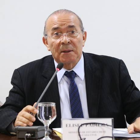 O ministro-chefe da Casa Civil, Eliseu Padilha, durante reunião sobre imigrantes venezuelanos Foto: Ailton de Freitas / Agência O Globo