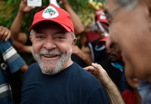 O ex-presidente Luiz Inácio Lula da Silva Foto: Douglas Magno / AFP / 21-2-18