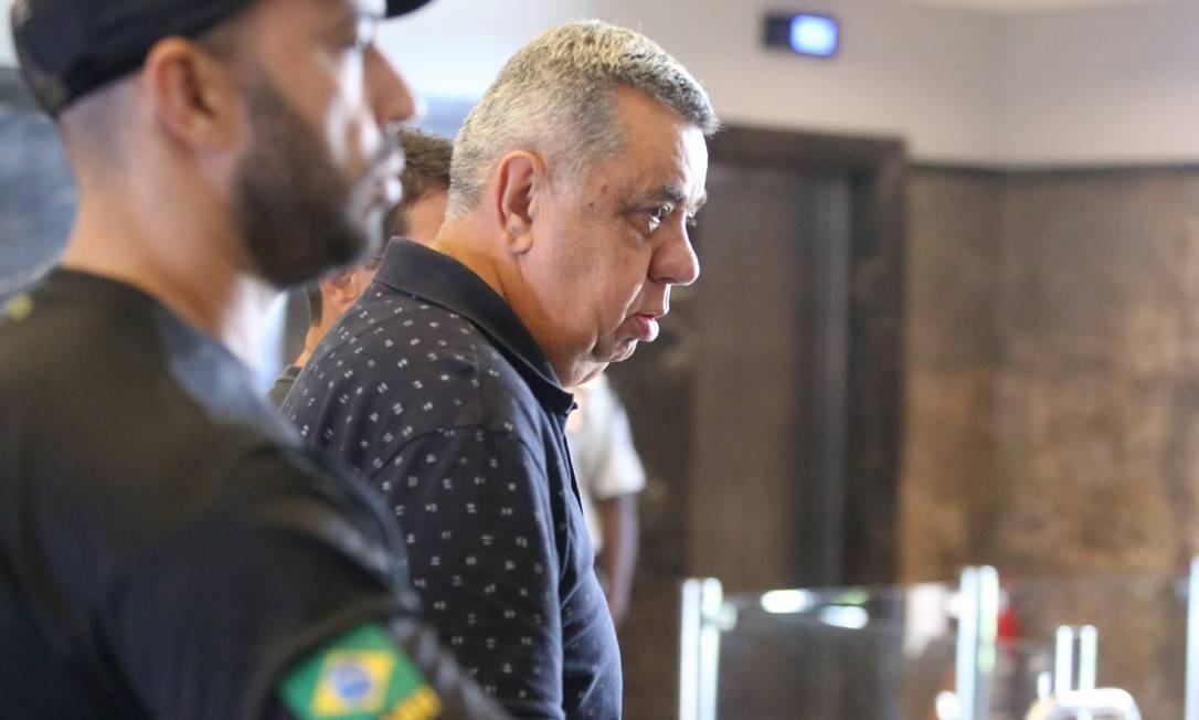 O deputado estadual Jorge Picciani ao se entregar à Polícia Federal Foto: Fabiano Rocha / Agência O Globo/14-11-17