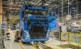 Linha de produção da Volvo Foto: DIVULGAÇÃO