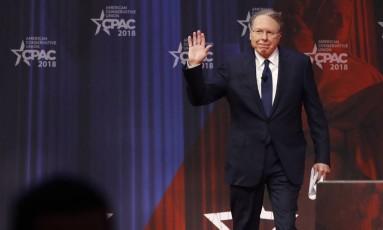 Wayne LaPierre: líder da NRA afirma que democratas politizaram o massacre na Flórida Foto: Jacquelyn Martin / AP