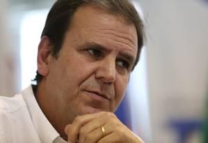 O candidato do DEM ao governo do Rio, Eduardo Paes Foto: Custódio Coimbra / Agência O Globo / 28-12-16