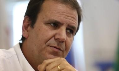 O ex-prefeito Eduardo Paes Foto: Custódio Coimbra / Agência O Globo / 28-12-16