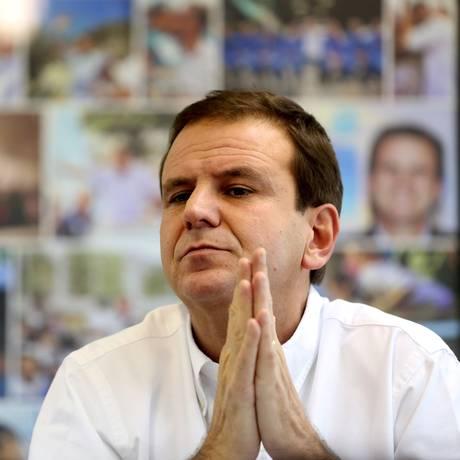 O ex-prefeito Eduardo Paes Foto: Custódio Coimbra / Agência O Globo / 3-11-16