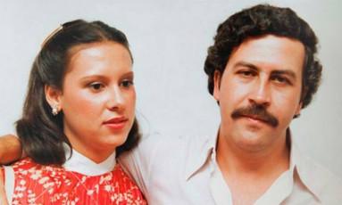 Pablo Escobar e a mulher, Victoria Henao Foto: Reprodução