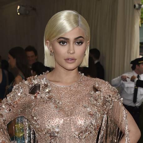 Kylie Jenner em evento no Metropolitan Museum, em Nova York Foto: Evan Agostini/Invision/AP/1-5-2017