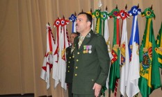 Coronel Richard Fernandez Nunes quando assumiu o comando da ECEME Foto: Reprodução