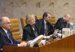 Ministros do Supremo participam de julgamento sobre Código Florestal Foto: Nelson Jr./STF
