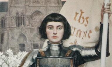 Joana D'Arc em gravura de Albert Lynch de 1903: escolha levantou críticas de tentativa de 'reescrever a História' da França Foto: Reprodução