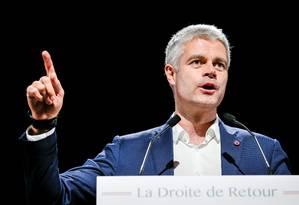 Laurent Wauquiez durante evento em Lyon, em dezembro Foto: Robert Pratta / REUTERS