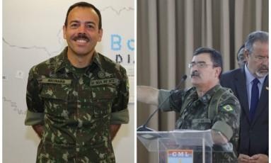 Os generais Richard Nunes (à esquerda) e Mauro Sinott, homens de confiança de Braga Netto Foto: Fotomontagem