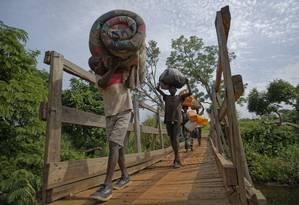 Mais de 4 milhões de sudaneses do sul já foram desalojados pela guerra Foto: Ben Curtis / AP