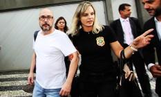 Orlando Diniz é preso no Leblon Foto: Paulo Nicolella / Agência O Globo