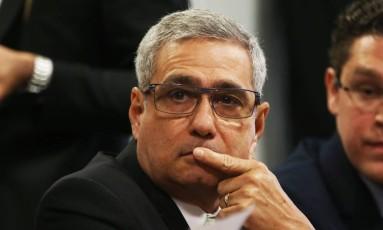 Ricardo Saud, ex-executivo da JBS, presta depoimento em CPI do Congresso Foto: Givaldo Barbosa / Agência O Globo